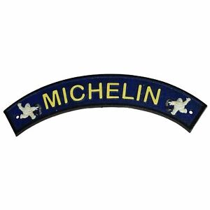 Curved-Blue-Michelin-Man-Cast-Iron-Sign-Plaque-Door-Wall-Garage-Fence-Tyre