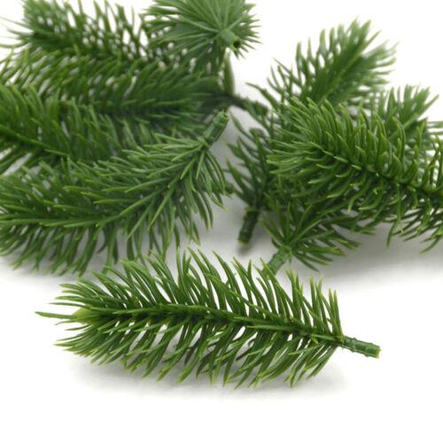15Pcs Artificial Plants Pine Branch Christmas Tree Wedding Decor Gift UK Fashion