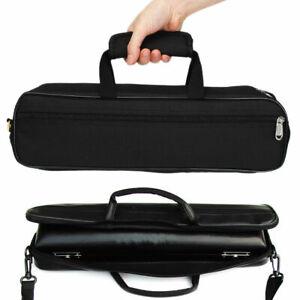 43-5x12x7-5cm-Nylon-Flute-Case-Cover-Carrying-Bag-w-Side-Pocket-Shoulder-Strap