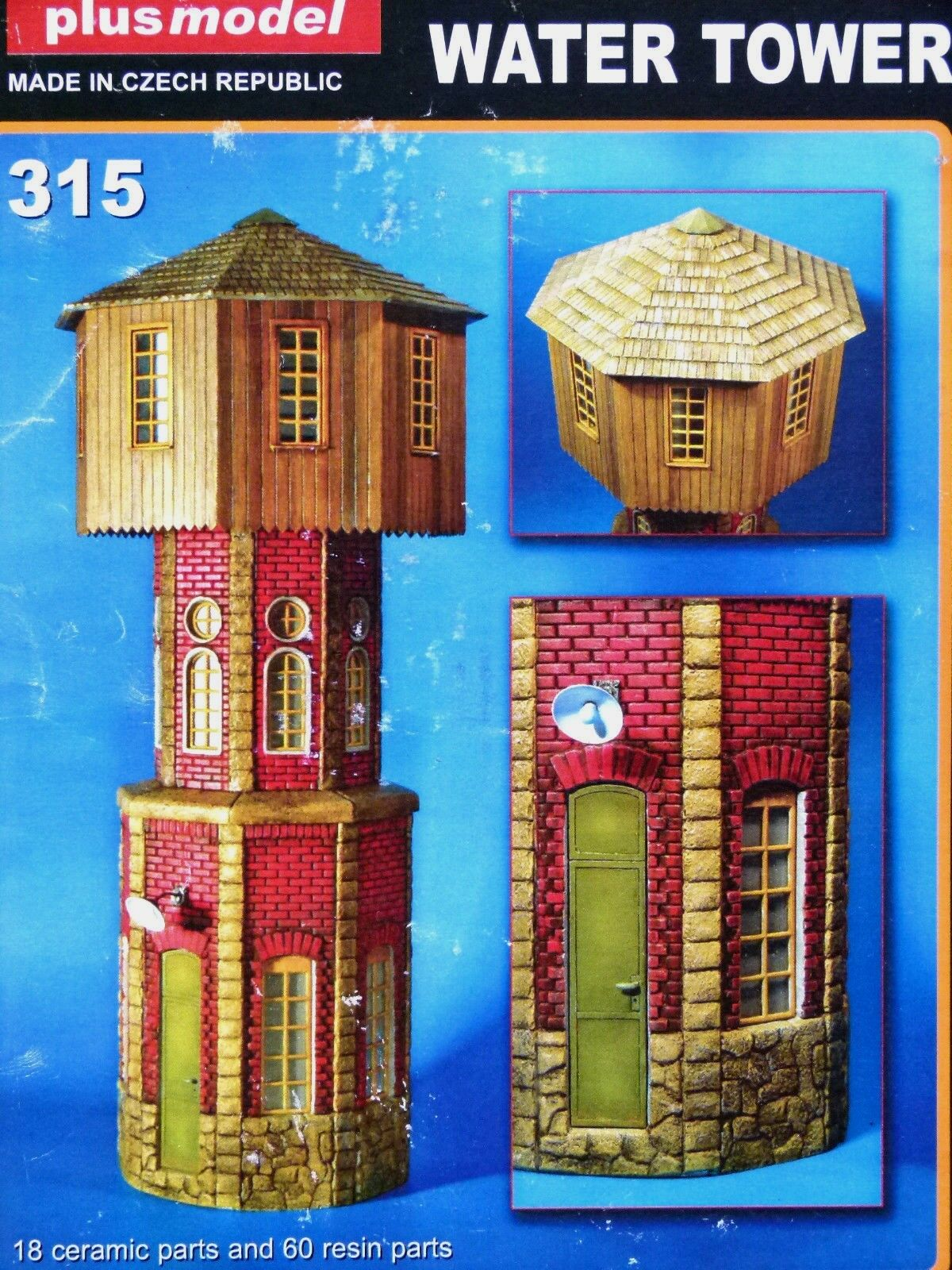 Plusmodel 1 35 Water Tower Resin and Ceramic Model Kit