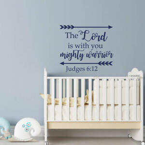 Details About Judges 6 12 Verse Wall Decal Quote Scripture Nursery Home Art Decor