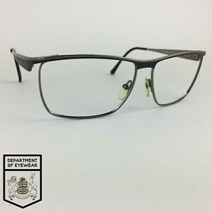 Police Eyeglasses Silver Black Rectangle Glasses Frame Mod S8404 Col Ok56 Ebay