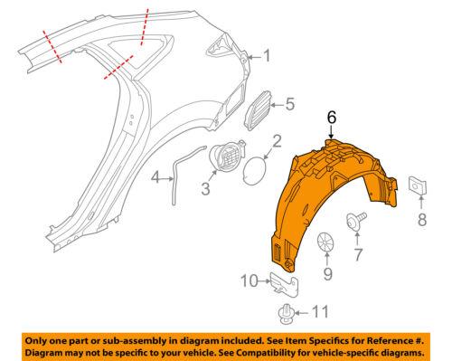 FORD OEM 16-18 Focus Rear Fender-Liner Splash Shield Left BM5Z58278B51B