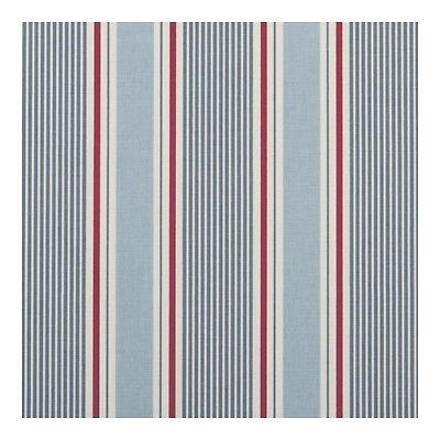 "Clarke and Clarke Sail Stripe Marine Fabric 137cm/ 54"" Wide"