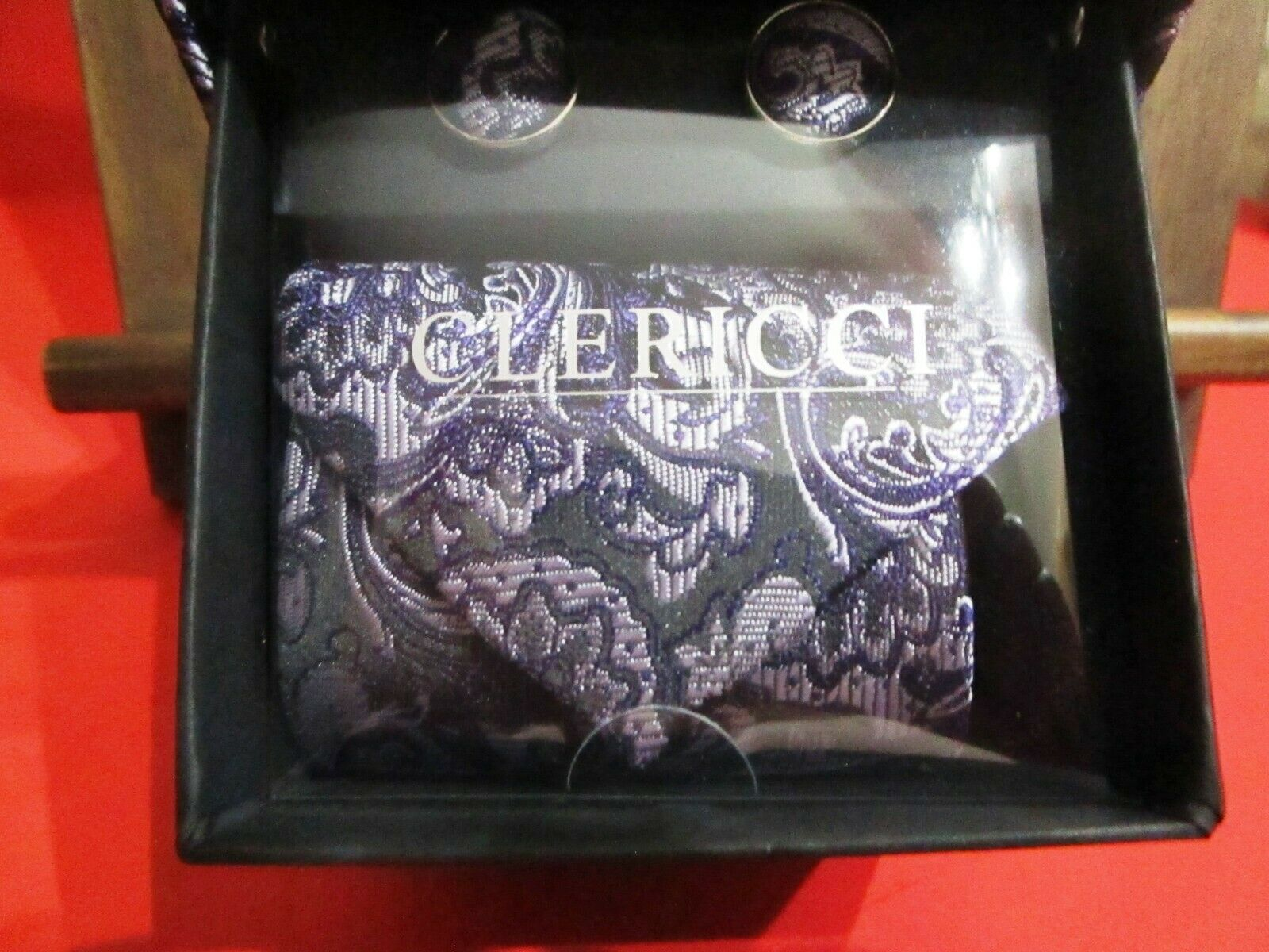 Clericci Tie & Cufflink Gift Set Men's Accessory Set