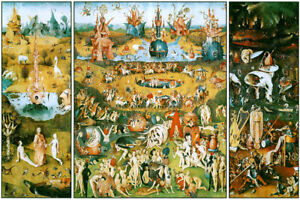 994fb77c2d0 Image is loading Hieronymus-Bosch-The-Garden-of-Earthly-Delights-Triptych-