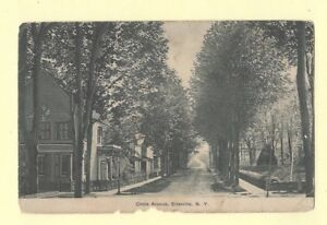 NY-Ellenville-1908-15-postcard-HOMES-ON-CIRCLE-AVE-New-York