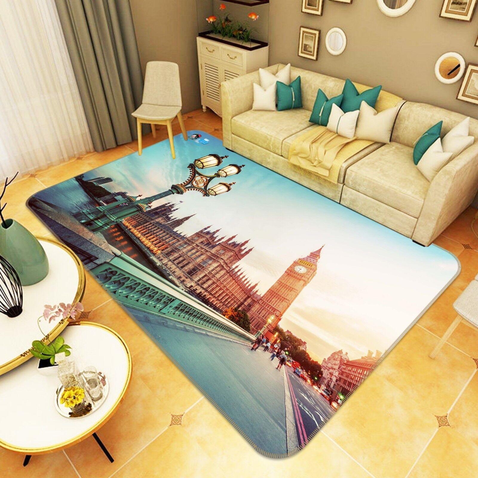 3d ciudad de Londres 5 antideslizante alfombra de maletero calidad elegante alfombra