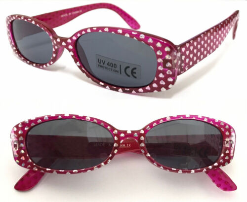BW29 Baby Kids Sunglasses Cute Girls Design//Heart//Butterfly//Dolphin//Dot Patterns