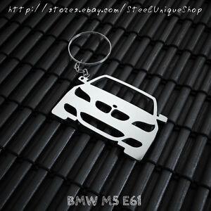 "Keyfob Keychain /""E28/"" for BMW 520 525e 525i 528 535 M5 stainless steel shiny"