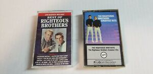 The-Righteous-Brothers-Cassette-Tapes-Lot-of-2-Best-of-Greatest-PRE-OWN-amp-TEST