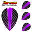 100 micron Harrows Quantum Pear Flights Purple