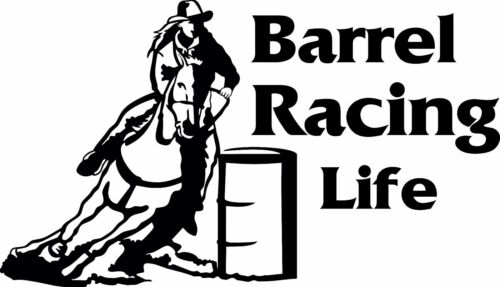 Barrel Racing Life Window Wall Decal Truck Horse Trailer Bedroom Barn Tack Room