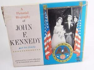 John-F-Kennedy-amp-Family-Pictorial-JFK-Jackie-Card-Set-42-Historical-News-Photos