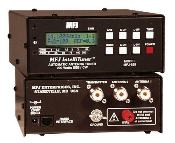 MFJ-929 HF (1.8 - 30MHz ) Automatic Antenna Tuner 200W with SWR/Wattmeter. Available Now for 269.95
