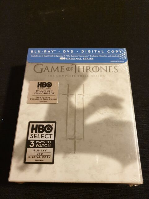 Game of Thrones S3 Ltd Ed (BD/DVD) Reg.A☆Free post☆New☆HBO☆
