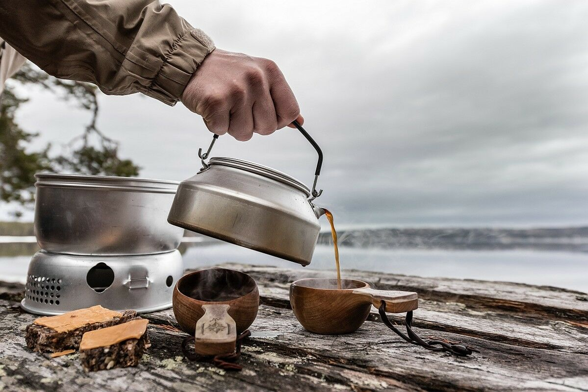 Trangia 25-2 UL Cookset Ultra Light 3-4 Person Cookset UL with Kettle & Gas Burner 2ae7ff