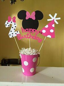 Minnie Mouse Birthday Party Centerpiece Please Read Description