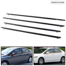 4pcs Car Window Moulding Trim Weatherstrips Seal 06 11 Fit For Honda Civic Sedan Fits 2006 Civic