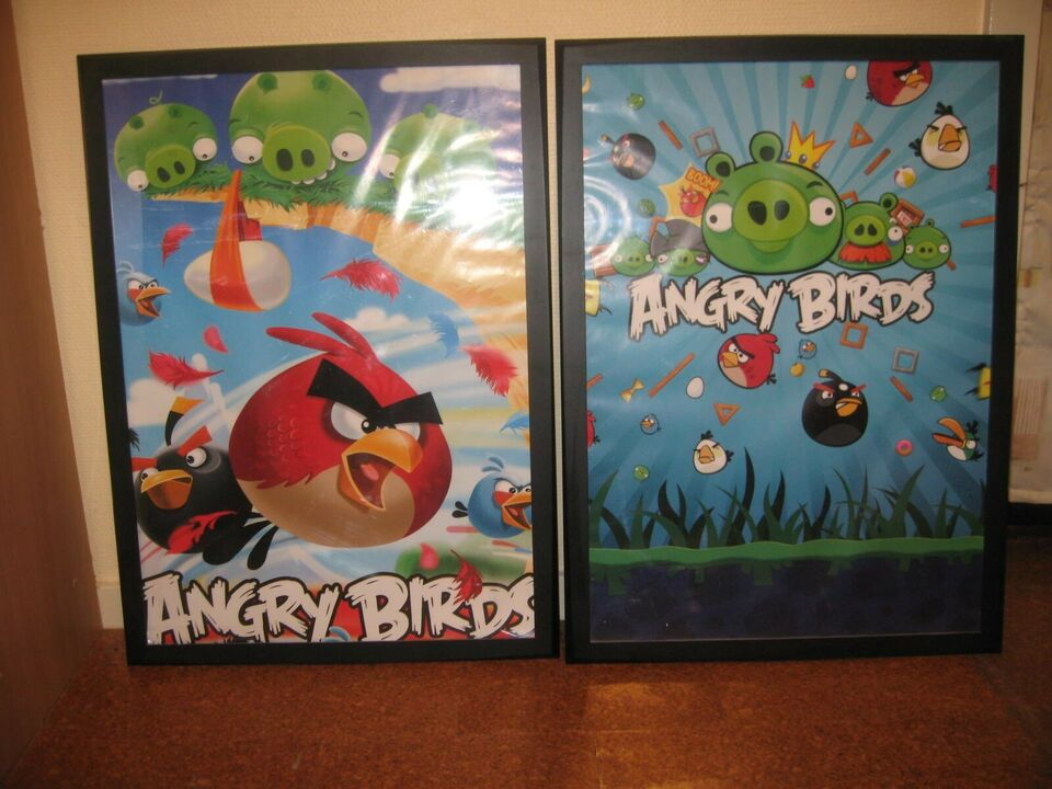 Andet legetøj, Plakater i Ramme, Angry Birds