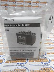 RHS301, HEAT SINK, FOR ONE OR TWO SINGLE PHASE SSRS OR ONE THREE PHASE SSR