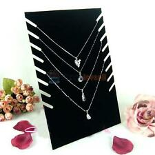 Velvet Jewelry Necklace Chain Pendant Display Stand Holder Rack Showcase Black