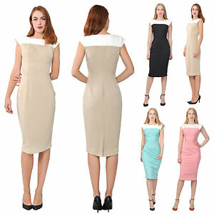 image is loading marycrafts women 039 s colorblock sheath midi dress