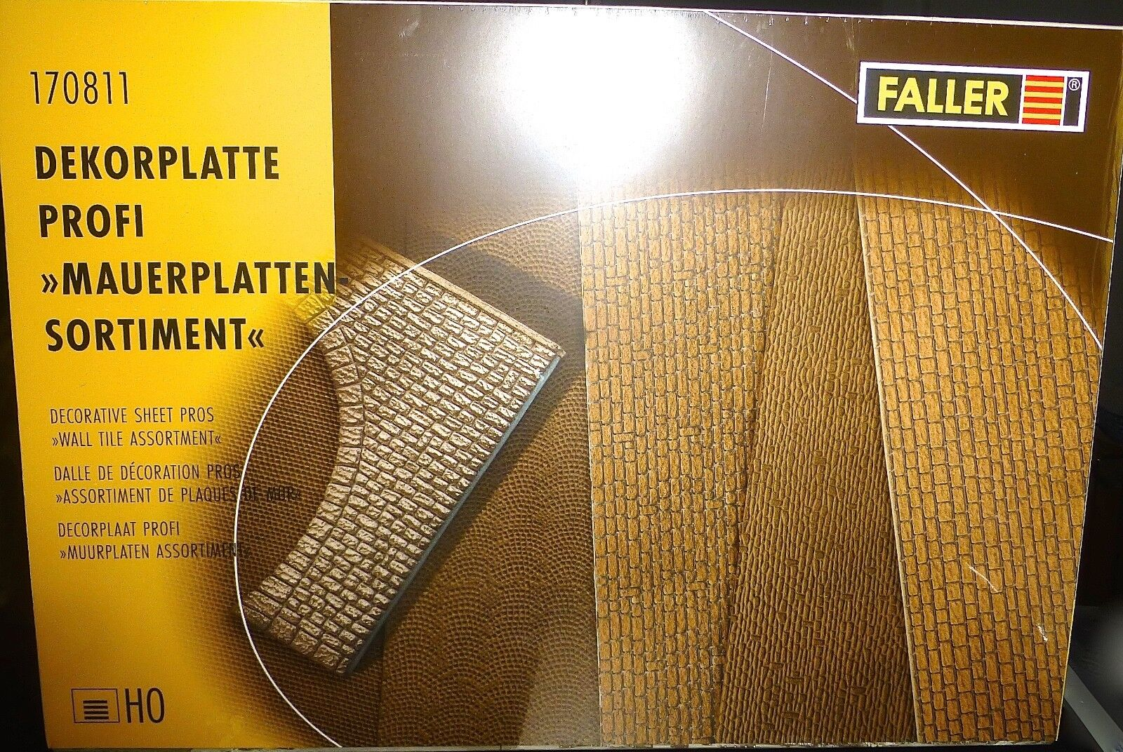 Wall Plates Assortment Decorative 370x200x2 mm Faller 170811 H0 1 87 orig.