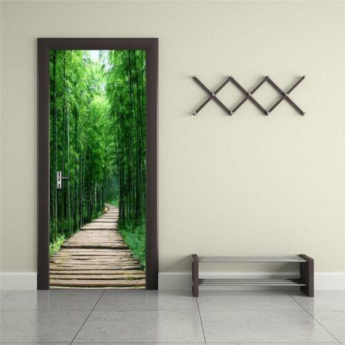 Maison porte papiers peints 3d mur Couverture Chambre murale papier peint forêt style Créatif