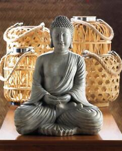 Peaceful Meditating Sitting Buddha Meditation Buddha Garden Zen Statue Sculpture