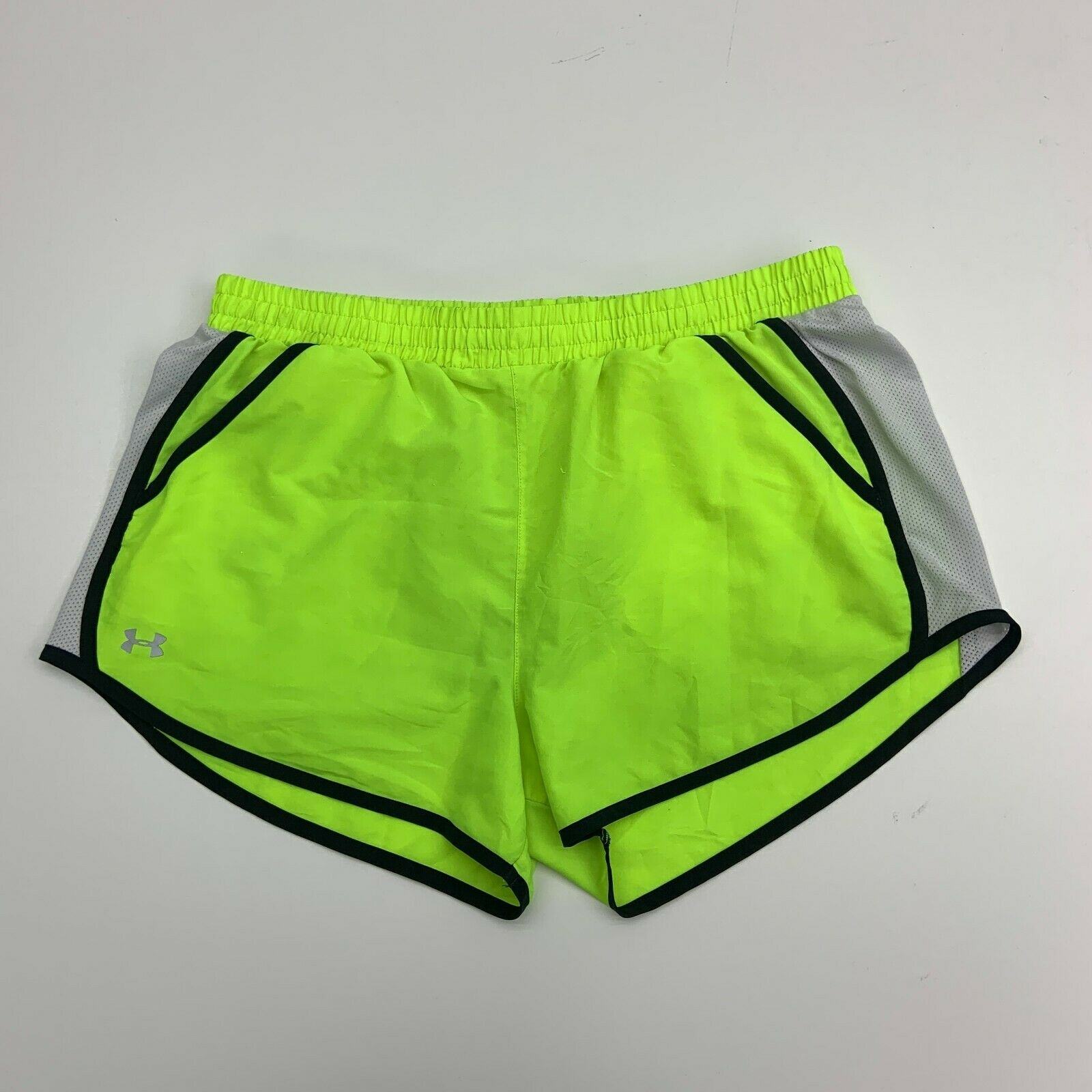 Under Armour Shorts Womens Size L Neon Yellow Athletic Running Gym