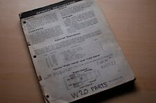 Case W20 Wheel Loader Parts Manual Book List Catalog Front End Spare Rubber Tire