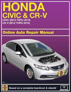 2013 honda civic haynes online repair manual select access ebay rh ebay com 2013 honda civic si repair manual 2013 honda civic si repair manual