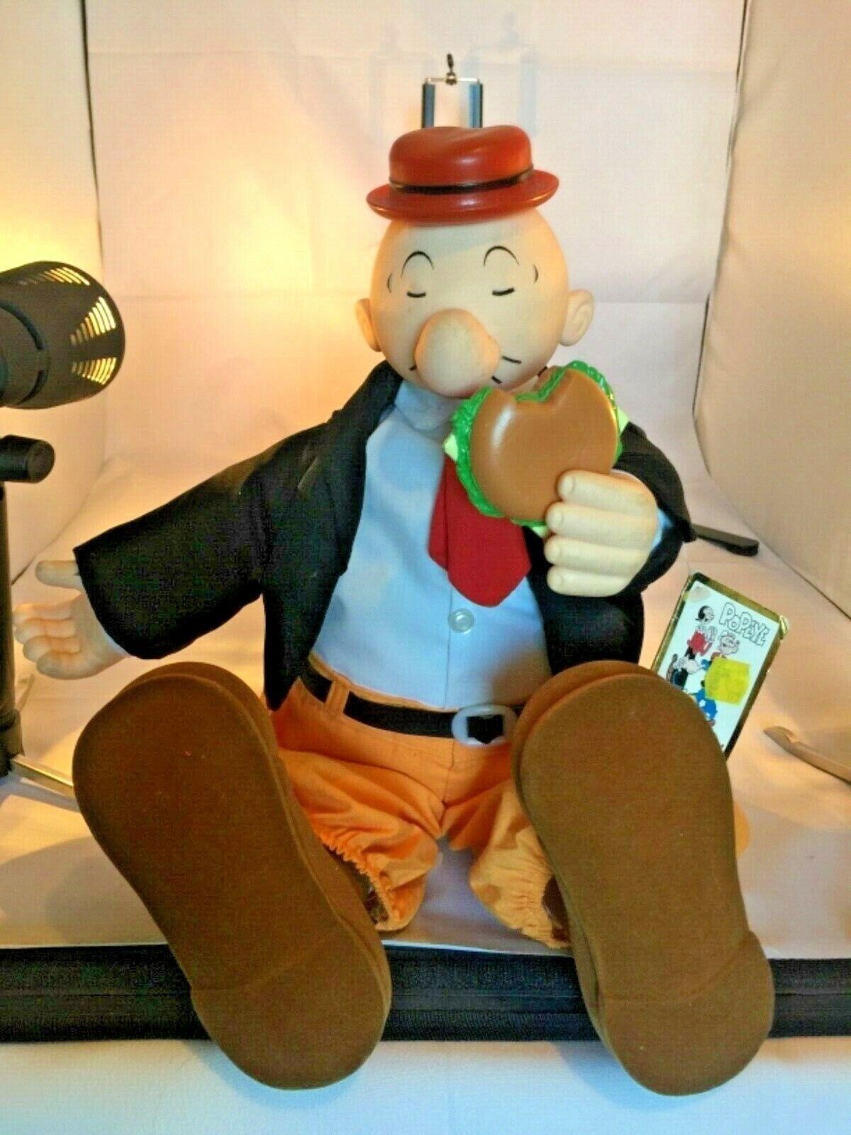 Big Wimpy Plush Doll w Cheeseburger från Popeye i perfekt skick Mycket sällsynt