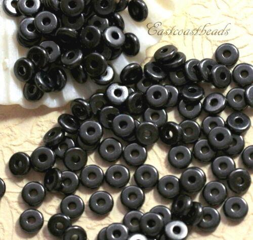 antqd hématite noir Tierracast 5 mm Souple Disque Perles 4113 sans plomb étain