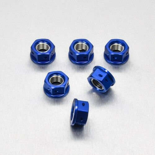 Pro-Bolt Alu Sprocket Nuts 1 x6 Drilled Blue Suz GSX-R1100 K-N 89-92 SPN10DB