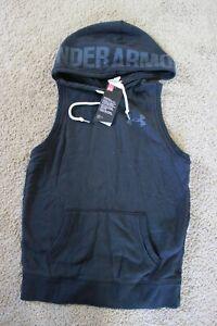 NWT Under Armour Women's Favorite Fleece Word Mark Vest black XS
