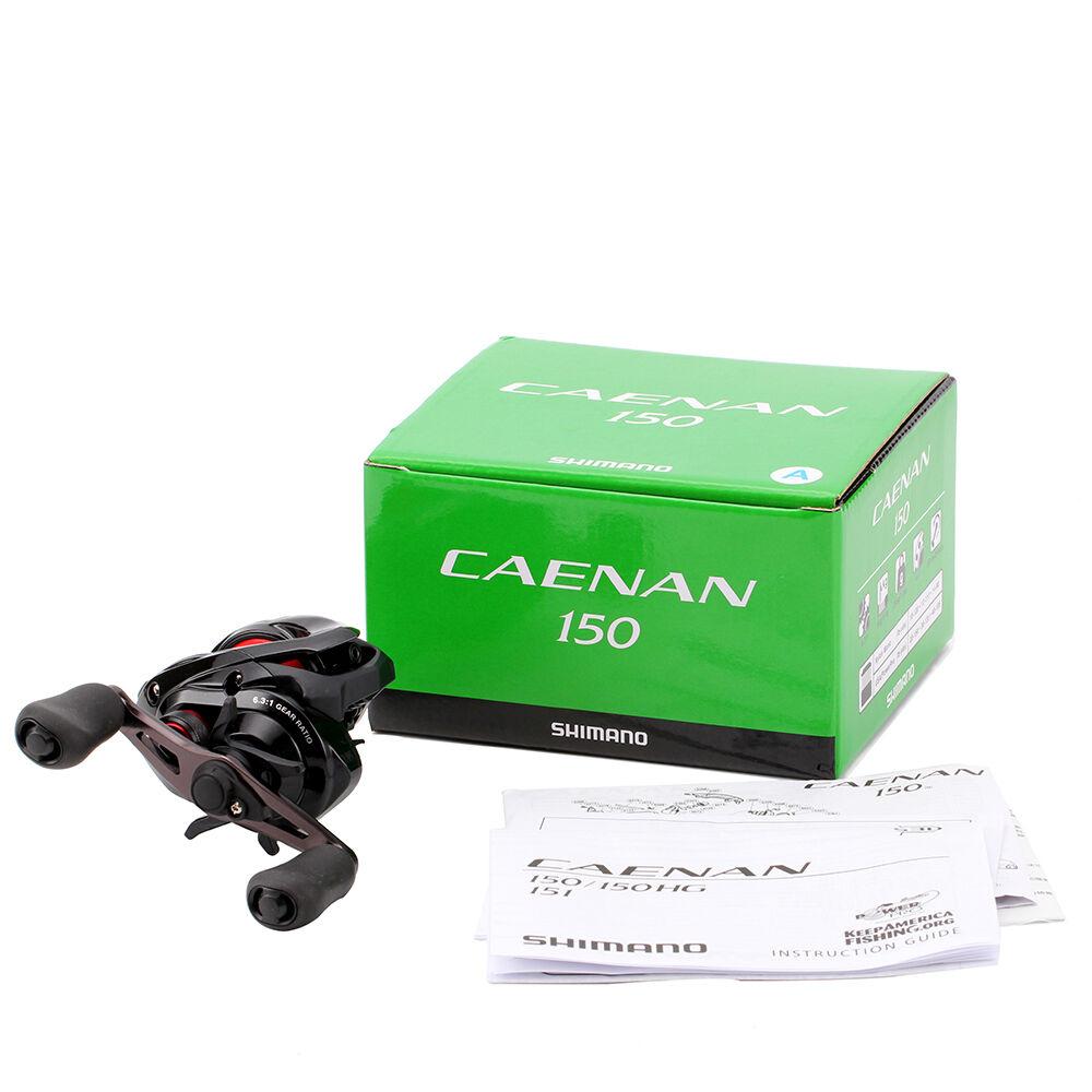 Shimano Caenan 150 6.3:1 Right Right 6.3:1 Hand Baitcast Fishing Reel - CAE-150A 60db5f