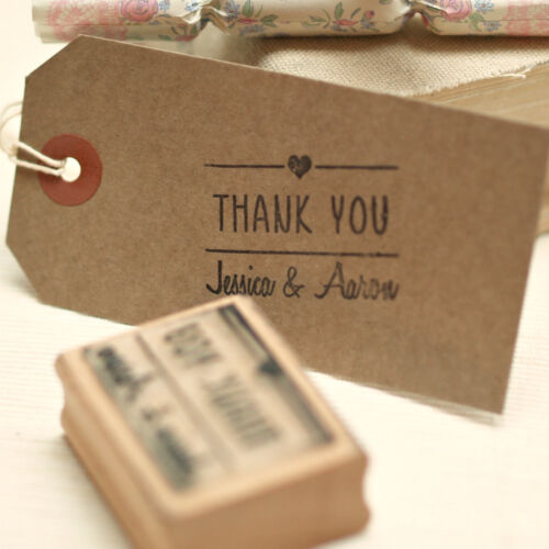 Personalised  Wedding Favours /'Thank you/' stamp