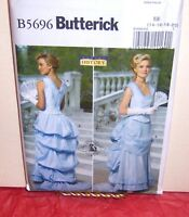 Butterick 5696 Misses' Victorian Civil War Gown Pattern Sz 8-14 Or 14-20