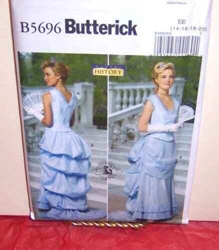Butterick 5696 Misses/' Victorian Civil War Gown Pattern Sz 8-14 or 14-20