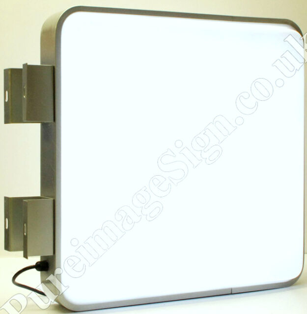 55X55cm Outdoor 2-Sided Projecting Illuminating LED Light Box for Sign Shop