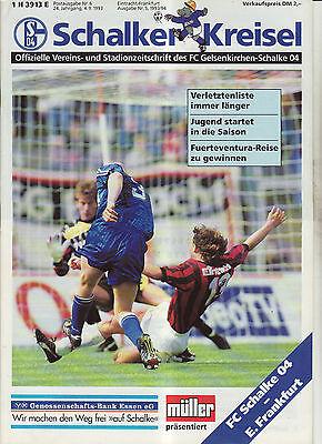 BL 91//92 VfB Stuttgart FC Schalke 04