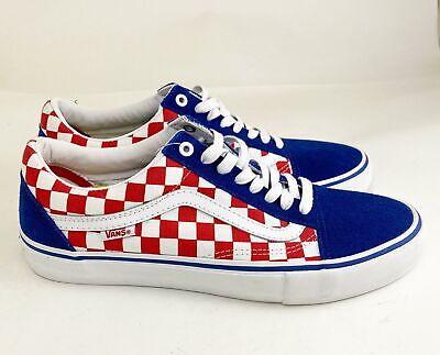 Vans Red White Blue Checker Old Skool