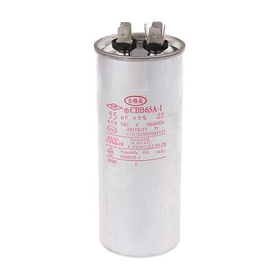 CBB65 450VAC 50uF Air Conditioner Appliance Motor Run Capacitor 50x125mm