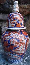 Porcelaine Antique Imari Jar Pot Chinois with Foo Dog Japon Asie