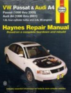 automotive repair manual vw passat and audi a4 passat 1998 thru rh ebay com 2003 vw passat service manual free 2003 volkswagen passat owners manual