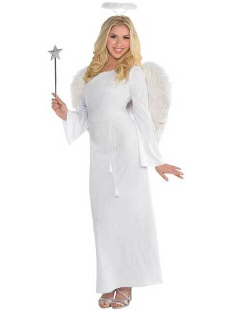 Adult Ladies Christmas Angel Gabriel Heaven Sent Nativity Fancy ... e7dca535929f