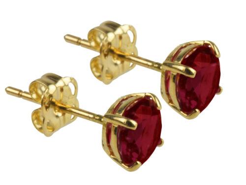 9ct Gold 5mm Birthstone Stud Earrings  UK Quality  Emerald Ruby Sapphire Topaz