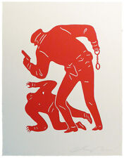 Cleon Peterson Red Police Shepard Fairey Obey Banksy KAWS Eelus print Trump